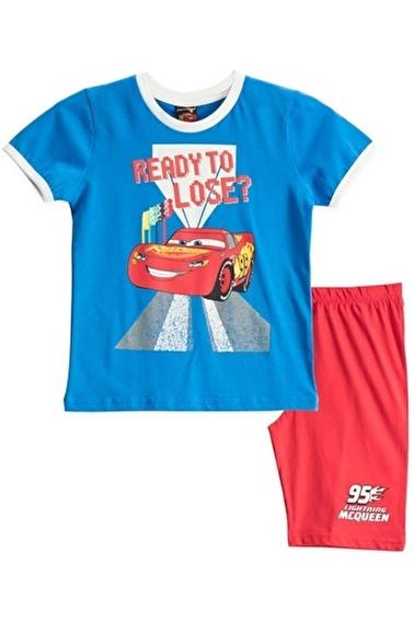 Cars Cars Lisanslı Karmelanj Erkek Çocuk Bermuda Takımı Mavi